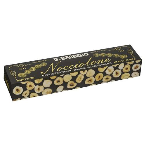 Nocciolone al Cioccolato Fondente Torroneria Barbero 260 Gr.