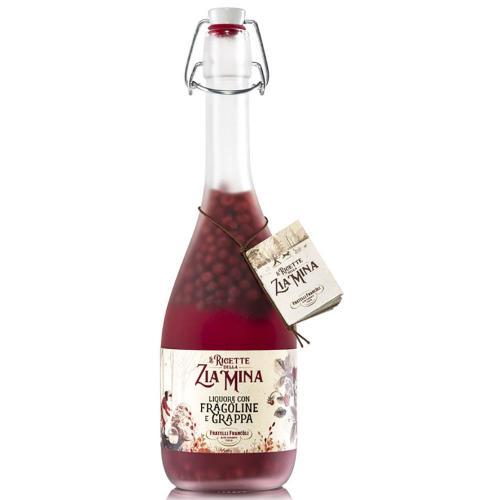 Liquore alle Fragoline con Grappa Francoli 70 Cl