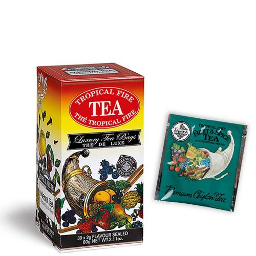 Tè The Tropical Fire Premium Ceylon Tea Mlesna Confezione 30 Filtri