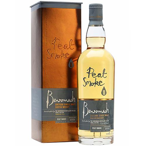 Whisky Scotch Single Malt Speyside Peat Smoke Distilled 2008 Bottled 2017 Benromach 70 Cl in Astuccio