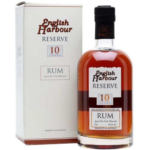 Rum Antigua 10 Years Old Aged in Oak Barrels English Harbour 70 Cl