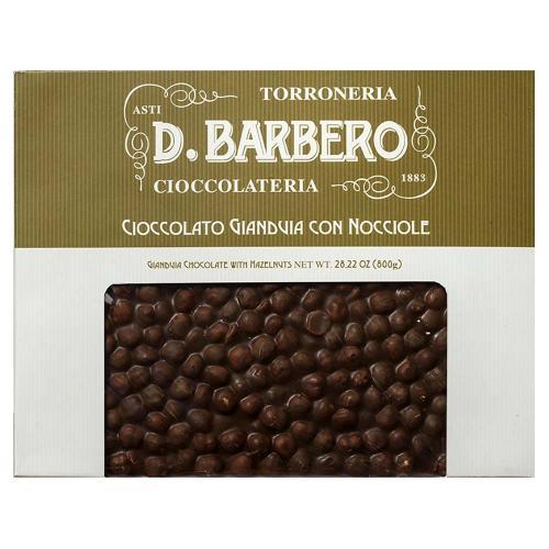 Tablet di Cioccolato Gianduia con Nocciole Torroneria Barbero Gr 800