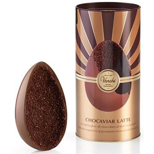 Uovo Cioccolato Chocaviar Latte Venchi in Cilindro Metallo 350 Gr
