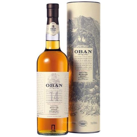 Whisky Scotch Higland Single Malt 14 Years Old Oban 70 Cl