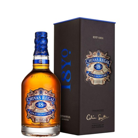 Whisky Gold Signature 18 Years Chivas Regal 70 Cl