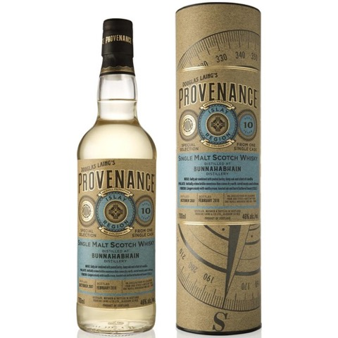 Whisky Single Malt Scotch 10 Years Old Islay Provenance Douglas Laing Distillery Bunnahabhain 70 Cl in Astuccio