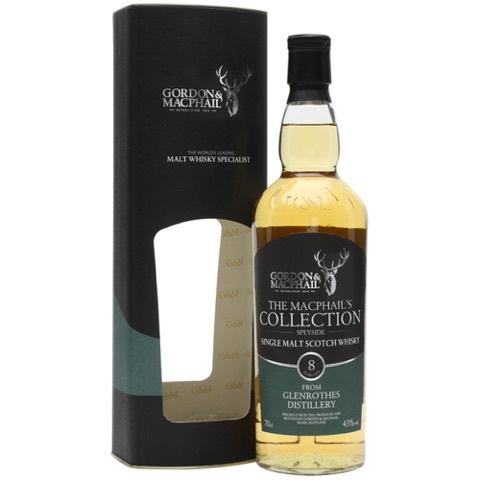 Whisky Single Malt Scotch Speyside 8 Years Old Glenrothes Distillery Gordon & Macphail