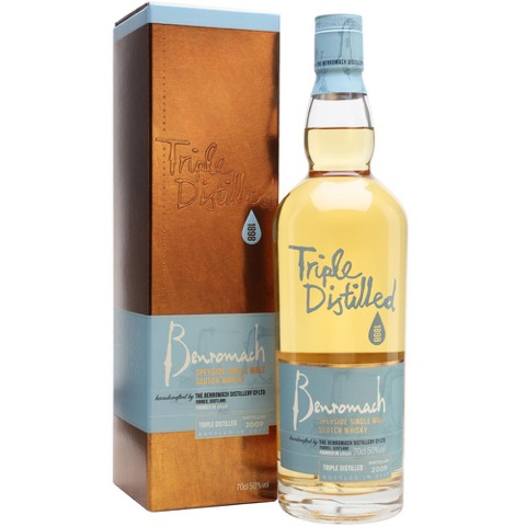 Whisky Scotch Single Malt Speyside Triple Distilled 2009 Bottled 2017 Benromach 70 Cl in Astuccio
