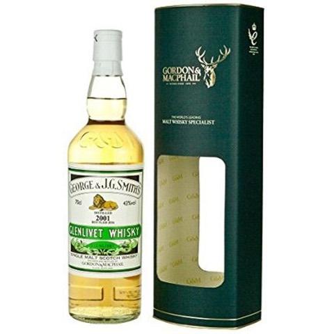 Whisky Single Malt Scotch Distilled 2002 Botled 2017 Glenlivet Distillery Gordon & Macphail