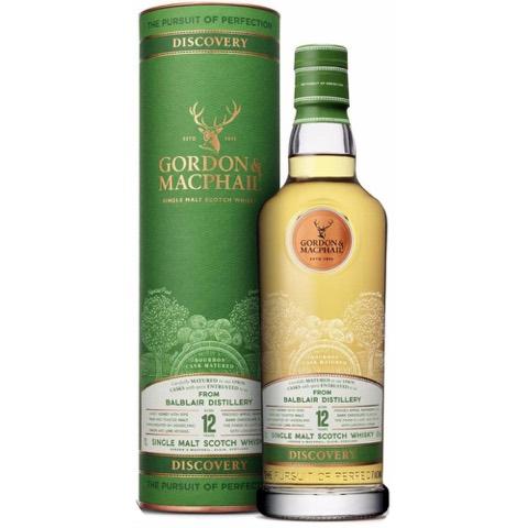 Whisky Single Malt Scotch Highland 12 Years Old Bourbon Cask Matured Balblair Distillery Discovery Gordon & Macphail