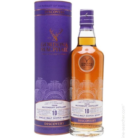 Whisky Single Malt Scotch Speyside 10 Years Old Sherry Cask Matured Miltonduff Distillery Discovery Gordon & Macphail