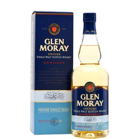 Whisky Single Malt Speyside Peated YGlen Moray Distillery 70 Cl in Astuccio