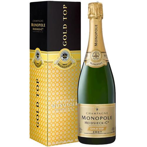 Champagne Brut Millesimè Gold Top Heidsieck Monopole in Astuccio