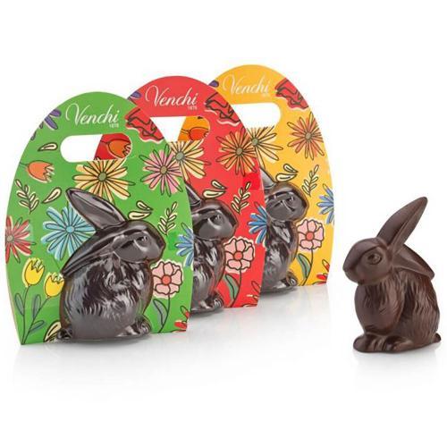 Coniglio di Cioccolato Fondente Pasqua Venchi in Astuccio 100 gr.