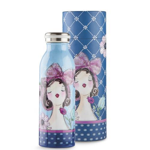 Bottiglia Termica Ml 500 Le Pupazze Colore Blu Egan