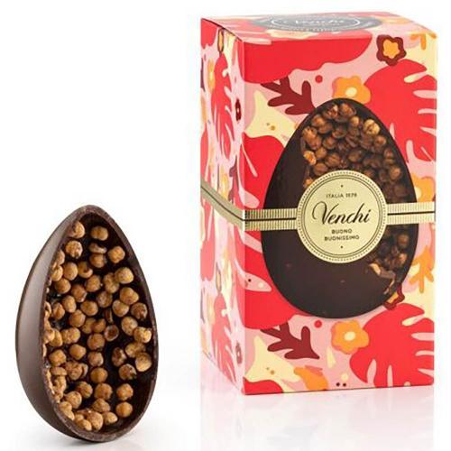 Uovo Cioccolato Extra Fondente con Nocciole Piemonte IGP Venchi 540 Gr