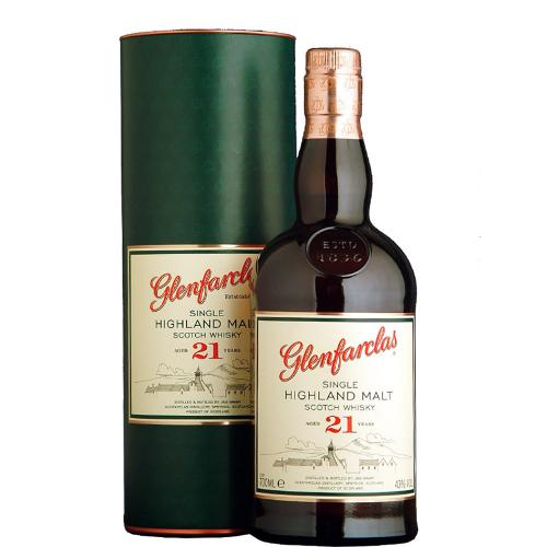 Whisky Single Malt 21 Years Old Highland Glenfarclas 70 Cl in Tubo