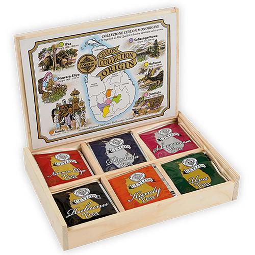 Tè The Ceylon Tea Origin Collection Monorigine Scatola in Legno Mlesna 30 Filtri
