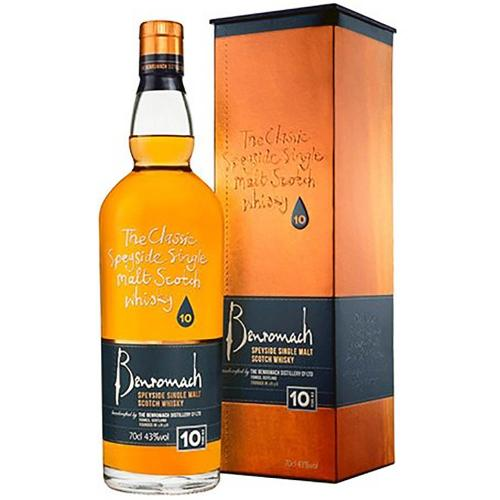 Whisky Scotch Single Malt Speyside 10 Years Old Benromach 70 Cl in Astuccio
