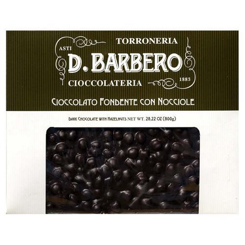 Tablet di Cioccolato Fondente con Nocciole Torroneria Barbero Gr 800