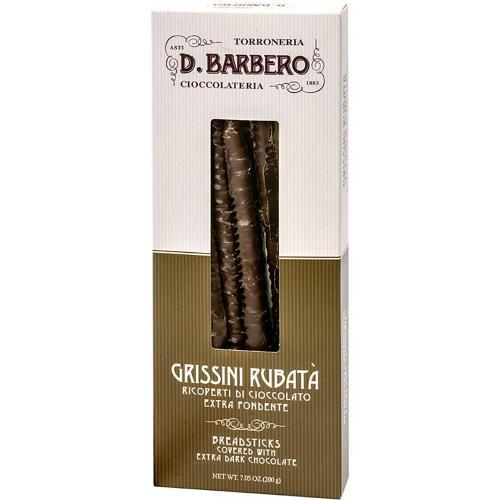 Grissini Rubatà Ricoperti Cioccolato Extra Fondente Torroneria Barbero 200 Gr.