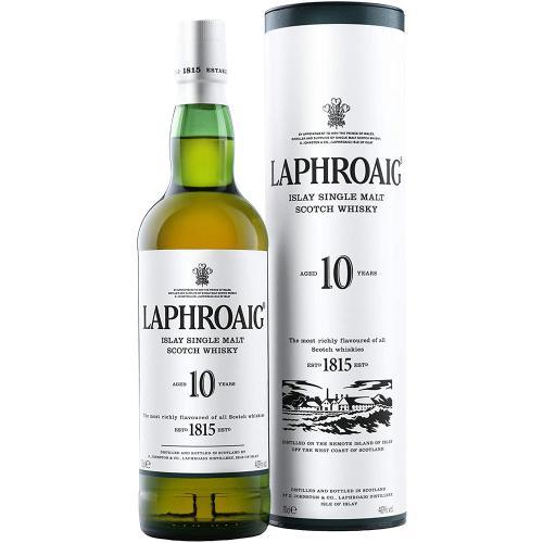 Whisky Islay Single Malt Scotch 10 Years Laphroaig 70 Cl in Tubo