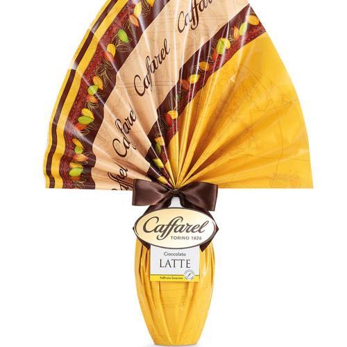 Uovo di cioccolato al latte le vie del cacao Caffarel 230 Gr