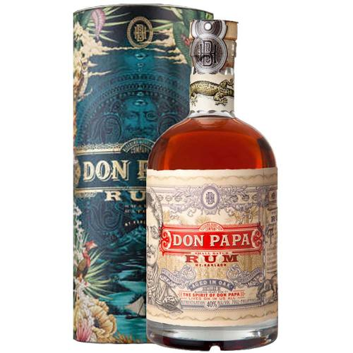 Rum Don Papa 7 Years Old Metal Silver Canister Limited Edition 70 cl in Astuccio