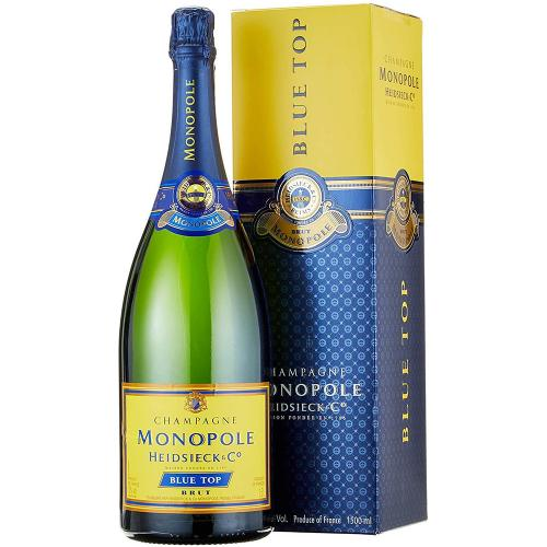 Champagne Brut Blu Top  Heidsieck Monopole Magnum 1,5 Lt in Astuccio