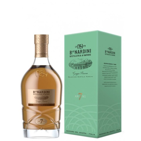 Grappa Riserva 7 Anni Selezione Bortolo Nardini Distilleria Nardini 70 Cl in Astuccio