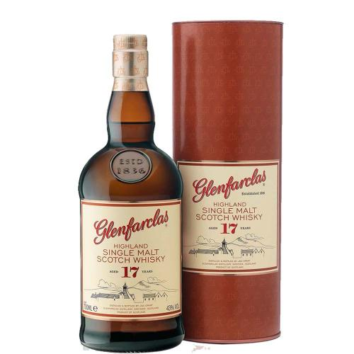 Whisky Single Malt 17 Years Old Highland Glenfarclas 70 Cl in Tubo