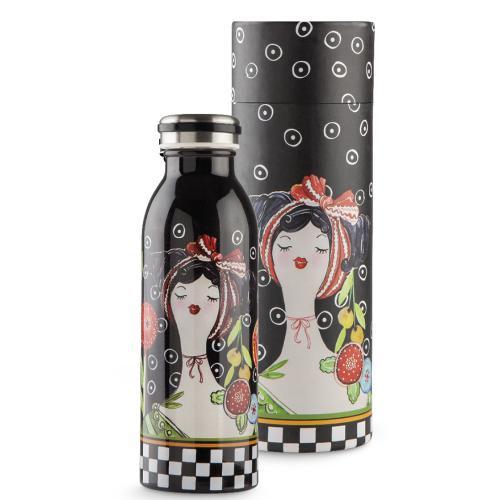 Bottiglia Termica Ml 500 Le Pupazze Colore Nero Egan