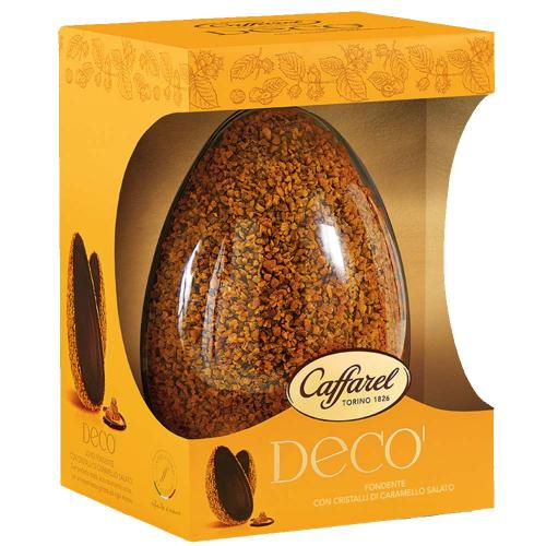 Uovo Decò Cioccolato Fondente con Cristalli di Caramello Salato Caffarel 455 Gr
