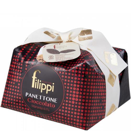 Panettone con Cioccolato Maranta 61% Pasticceria Filippi 1 Kg