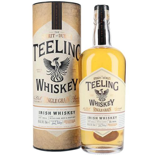 Whiskey Irish Single Grain Non Chill Filtered Wine Cask Aged & Matured Teeling 70 Cl in Tubo