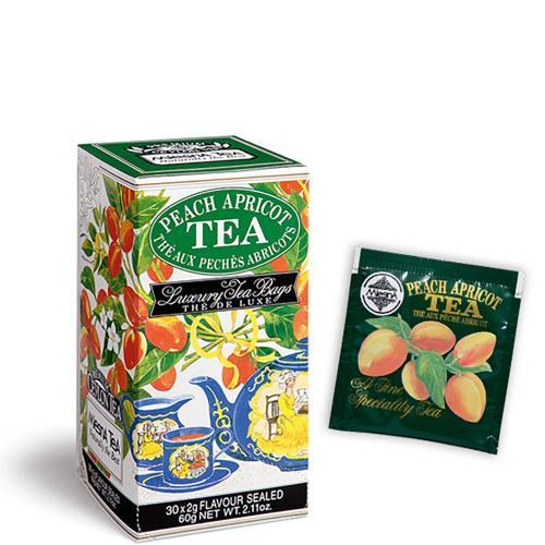 Tè The Peach Apricot Premium Ceylon Tea Mlesna Confezione 30 Filtri