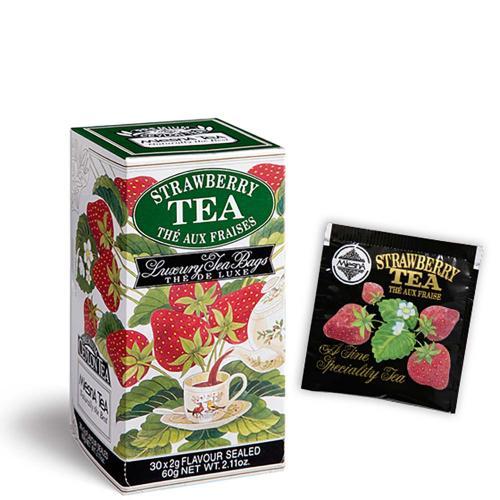 Tè The Strawberry Premium Ceylon Tea Mlesna Confezione 30 Filtri