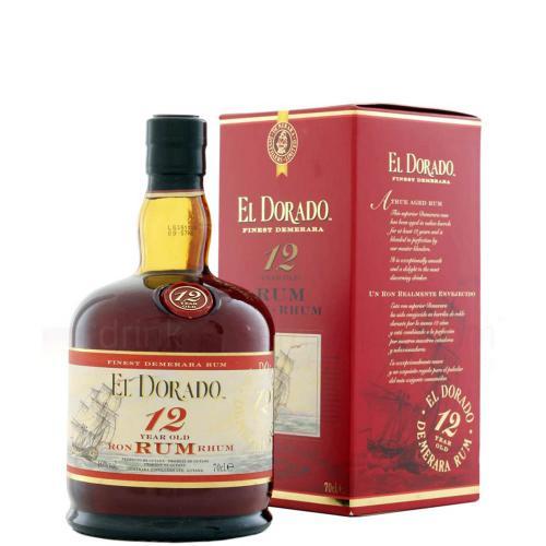Rum Demerara 12 Years El Dorado 70 Cl in Astuccio