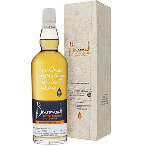 Whisky Scotch Single Malt Speyside Exclusive Single Cask Meregalli Distilled 2008 Bottled 2016 Benromach 70 Cl
