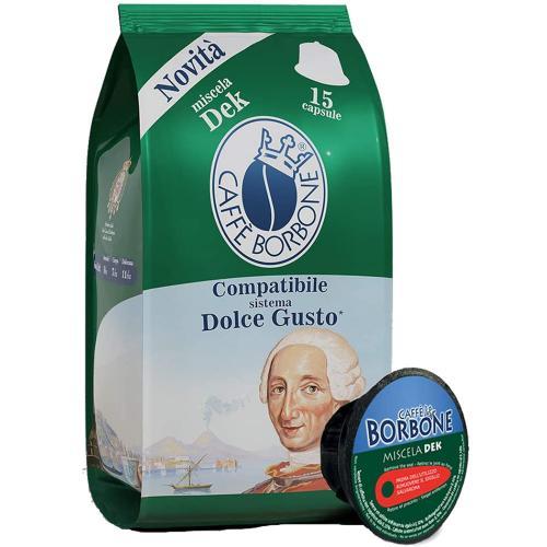 Capsule Dolce Gusto Caffè  Verde DeK Borbone Confezione 15 pz