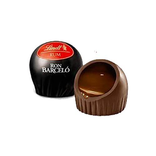 Praline con Cioccolato Fondente e Ripieno Liquido al Rhum Barcelò  Lindt 1 kg
