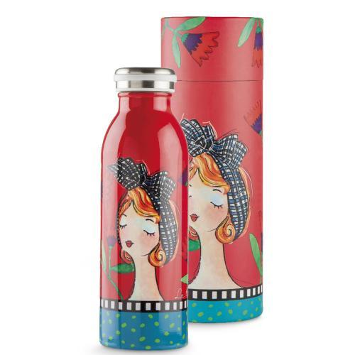 Bottiglia Termica Ml 500 Le Pupazze Colore Rosso Egan