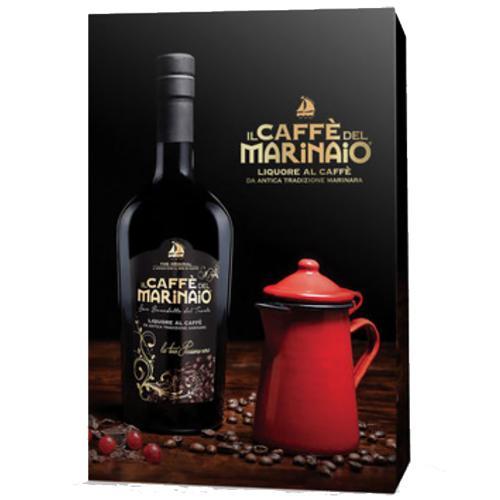 Confezione regalo Caffè del Marinaio 70 cl  con Bricco per caffè  in acciaio Rosso da 20cl