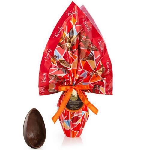 Uovo Cioccolato Extra Fondente Ripieno Cuor di Cacao Venchi 300 Gr