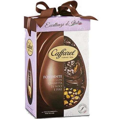 Uovo di Cioccolato Fondente con Granetta di Noci e Pere Caffarel 360 Gr