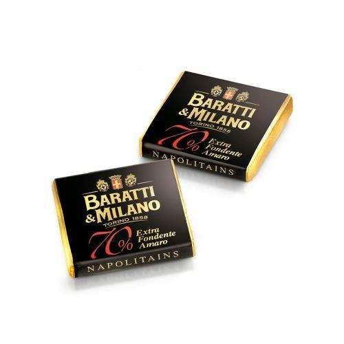 Napolitains di Cioccolato Fondente Extra 70% Baratti & Milano Busta 500 Gr