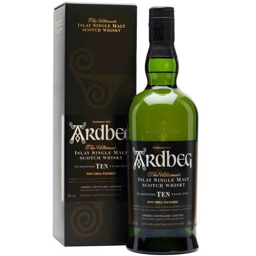 Whisky Scotch Single Mal Islay 10 Years Old Ardbeg 70 Cl