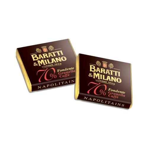 Napolitains di Cioccolato Fondente Extra 70% al caffè Baratti & Milano Busta 500 Gr.