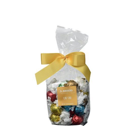 Pralina di Cioccolato Fondente con Nocciola Intera Cri Cri Torroneria Barbero Sacchetto 200 Gr.