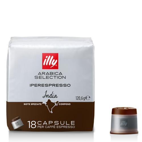Capsule di Caffè Iperespresso Monoarabica India Illy Confezione 18 pezzi